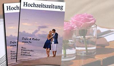 Hochzeit goldene deckblatt hochzeitszeitung Hochzeitszeitung für
