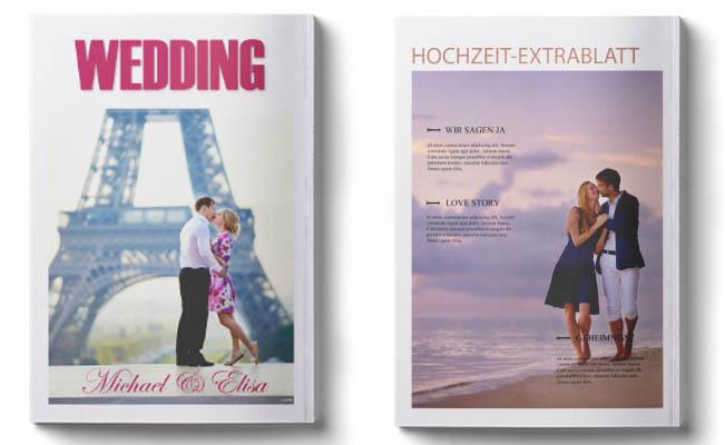 Für hochzeitszeitung idee Die Hochzeitszeitung: