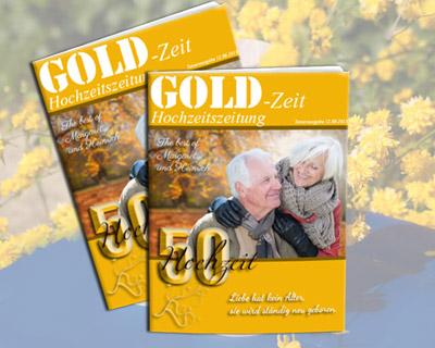Hochzeitszeitung Zur Goldene Hochzeit
