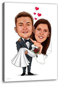 Karikatur Vom Brautpaar Hochzeit Extrablatt